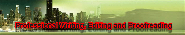 Professional Writing, Editing and Proofreader in Los Angeles.